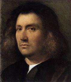 GIORGIONE Italian painter, Venetian school (b. 1477, Castelfranco, d. 1510, Venezia)  Portrait of a Man c. 1508 Oil on panel, 30 x 26 cm Fine Arts Gallery, San Diego