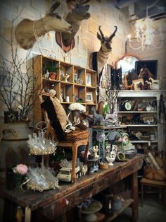 Rustic Luxe show at Sweet Salvage February 2015 design by Myko Bocek of Aquamarina Antiques
