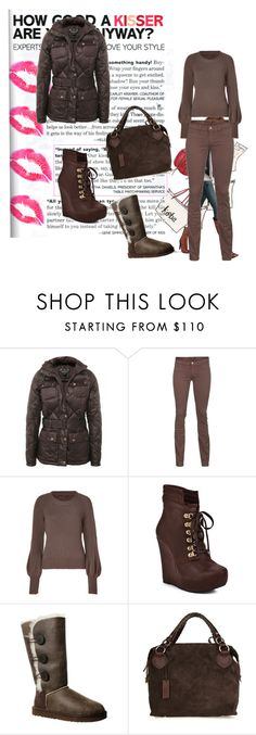 """Winter style.."" by sladjana-simic ❤ liked on Polyvore featuring Barbour, J Brand, Antonia Zander, Restricted, UGG Australia and Pauric Sweeney"