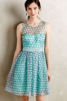 51f094518aa8a ANTHROPOLOGIE Moulinette Soeurs CHASIA DRESS 2 sheer organdy FULL SKIRT  pastel