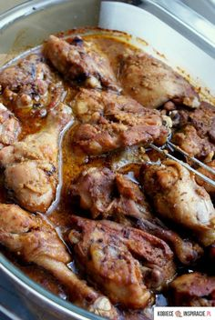 Udka kurczaka w marynacie European Dishes, Chicken Wings, Grilling, Good Food, Pork, Cooking, Kitchen, Poland, Foods