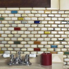 Update your bathroom or kitchen walls or give your indoor flooring a pop of color with these hand-glazed porcelain tiles. These milky white mosaic tiles come ready to install and features eye-catching White Mosaic Tiles, Ceramic Mosaic Tile, Mosaic Glass, Concrete Candle Holders, Online Tile Store, Best Floor Tiles, White Kitchen Cabinets, Kitchen Walls, Kitchen Backsplash