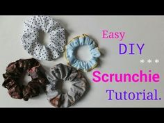 **DIY** Easy way to make Hair Scrunchie.♪* - YouTube