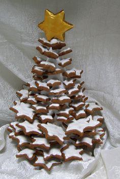 Árvore de Natal de bolachinhas de chocolate!