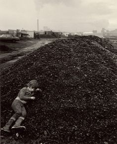 """Chris Killip John on the Coal, Seacoal Camp, Lynemouth, Northumberland, 1983"""