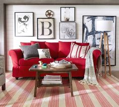 After Red Sofa Living Room Ideas - athomebyte Red Couch Living Room, Red Living Room Decor, Red Home Decor, Living Room Colors, Interior Design Living Room, Living Room Furniture, Home Furniture, Grey And Red Living Room, Outdoor Furniture