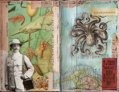 Altered Books Pages | Fiddlesnips!: Collage Coterie Altered Book pages
