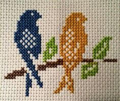 This is taken from cross stitch patterns that are done monochromatically, but I chose to do it in color. Cross Stitch Bookmarks, Mini Cross Stitch, Cross Stitch Cards, Simple Cross Stitch, Cross Stitch Borders, Cross Stitch Animals, Cross Stitch Flowers, Cross Stitch Designs, Cross Stitching