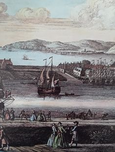 Swansea, in the with a view towards Mumbles in the background. Swansea Marina, Swansea Bay, Collage Ideas, Cymru, South Wales, Welsh, Archaeology, 18th, 19th Century