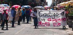 UPVA 28 de Octubre, protesta en las calles por matanza de Tlatelolco y feminicidio de Meztli