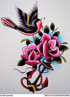 Rose tattoos designs red rose black rose heart and rose for Tattoo artist job description