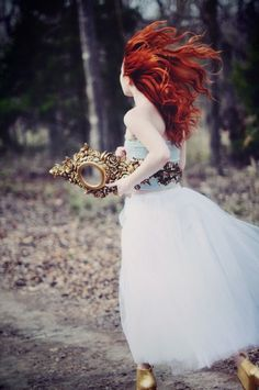 Makes me think of Amber running home after Titus lets her go... The mirror she has is the one he gave her.