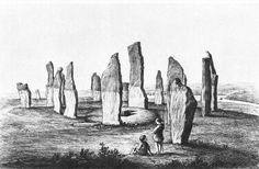 Drawing by Sir Henry James from 1866 shows the stones of Callanish after  they were excavated 0e5d162b8d0