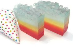 Snow-Kone Soap, snow cone, icee, sweet tart, fresh soap, kids birthday, birthday, summer, refreshing. kids, teens
