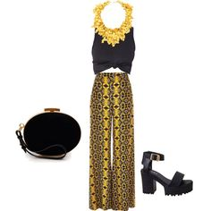 35k necklace by eileen-salguera on Polyvore featuring polyvore fashion style River Island Nina Ricci