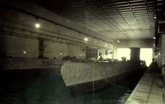 """""""Two Type VII U-Boats inside the U-Boat bunkers in France"""""""