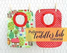Pullover Toddler Bib Tutorial