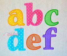 "Sizes 2""- 3""- 4""- 5""- 6"" -  Applique Embroidery Font 313 - Machine Embroidery Design - 5 applique sizes"
