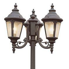 Found it at wayfair outdoor 3 light 96 post lantern set another victorian lamp post workwithnaturefo