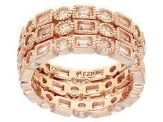 Bella Luce (R) 6.90ctw Champagne Diamond Simulant Eterno (Tm) Rose Rings- Set Of 3