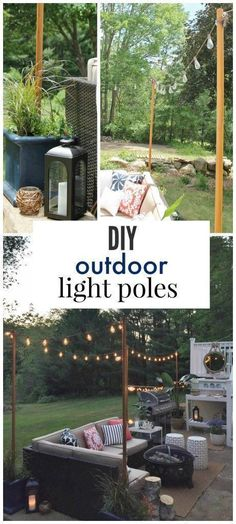 Mindblowingly Awesome Backyard DIYs 2019 DIY Outdoor Light Poles-Everthing you need for outdoor lighting from Lowe's The post Mindblowingly Awesome Backyard DIYs 2019 appeared first on Patio Diy. Patio Diy, Backyard Patio, Backyard Landscaping, Wedding Backyard, Landscaping Ideas, Diy Pool, Outdoor Patio Decorating, Campsite Decorating, Farmhouse Outdoor Decor