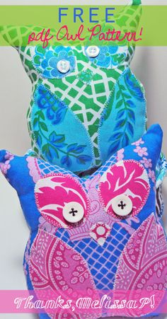 Free pdf owl pattern for softie