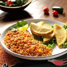 Whole Grain Spanish Rice made with Mahatma Brown Rice