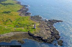 Brier Island lighthouse [1944 - Brier Island, Nova Scotia, Canada] Nova Scotia, Quebec, Alaska, East Coast Canada, Places To Travel, Places To Go, Atlantic Canada, Canadian History, Newfoundland And Labrador