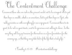 Contentment Challenge - Nancy Ray
