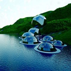 What!? Is there living space in the globes floating in the water?