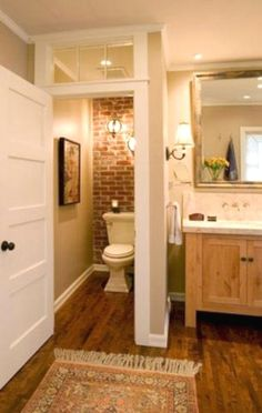 Small bathrooms remodel may seem like a difficult design task to take on; however, these spaces may introduce a clever design challenge to add to your plate. Creating a functional and storage-friendly bathroom may be just what your home needs. #RemodelingBathroomIdeas