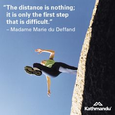 """The distance is nothing; it is only the first step that is difficult."" – Madame Marie du Deffand #quote #motivational #travel #LiveTheDream"