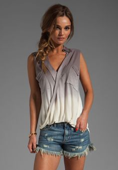 YOUNG, FABULOUS & BROKE Alexis Top in Grey Ombre at Revolve Clothing - Free Shipping!  LOVE, LOVE, LOVE ...