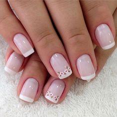 New Gel Manicure Designs Blue Nail Art Ideas French Nails, French Pedicure, French Manicure Designs, New Nail Designs, Nail Designs Spring, Nails Design, French Manicures, Glitter Make Up, Nagel Hacks
