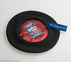 The world's finest Beret, the Elosegui Basque Beret, from Tolosa, Spain.  www.rongreer.com  $39.50