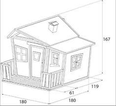 caseta lisa, caseta infantil de fusta, caseta d'exterior