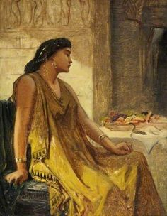 """""""Cleopatra and the Asp"""" By Edward John Poynter From: Russell-Cotes Art Gallery & Museum"""