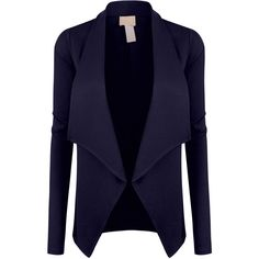 LE3NO Womens Open Front Long Sleeve Tuxedo Blazer Jacket ($23) ❤ liked on Polyvore featuring outerwear, jackets, blazers, tux jacket, tuxedo blazer, blazer jacket, long sleeve jacket and blue tuxedo jacket