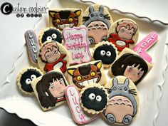 Japanese Amine: Totoro, Ponyo, and Spirited Away cookies.