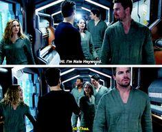 """Hi. I'm Nate Heywood"" - Nate, Thea, Oliver, Sara, Ray and John #Arrow"