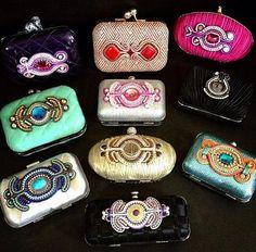 Soutache clutches handbags