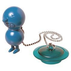 Alessi Mr Suicide Bath Plug - Blue