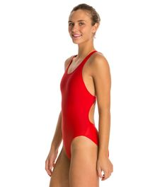 3ecaeb91bf17f iSwim Essential Solid Wide Strap One Piece Swimsuit at SwimOutlet.com - The  Web's most popular swim shop