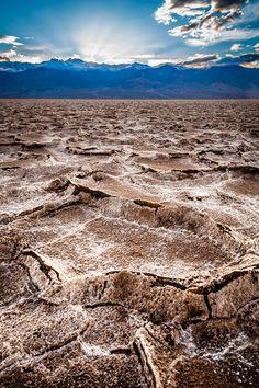 Salt Pan Sundown, Death Valley National Park, California; photo by ,Greg Clure