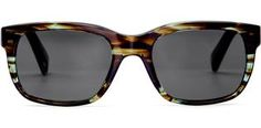 Sunglasses - Paley in Blue Marblewood