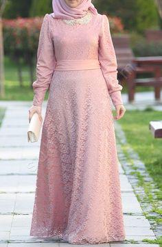Dress Brukat, Hijab Dress Party, Hijab Style Dress, Kebaya Dress, Dress Pesta, Dress Outfits, Lace Dress, Modern Hijab Fashion, Muslim Women Fashion