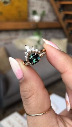 Engagement Ring Photos, Engagement Rings Not Diamond, Engagement Dress For Bride, Stacked Engagement Ring, Engagement Nails, Indian Engagement, Engagement Photo Outfits, Alternative Engagement Rings, Queen