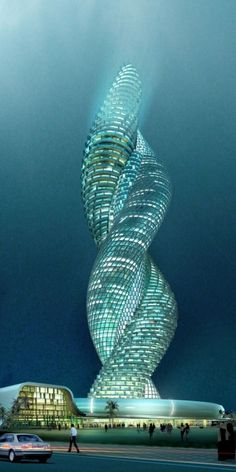 Kuwait..intertwining spiral...would love to see the inside by maria.interest