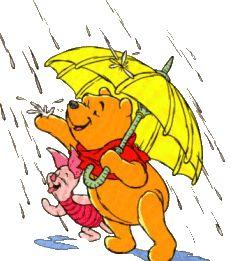 """Winnie the pooh """"rain song"""" - the rain-rain-rain came down-down-down  the flood rose up-up"""