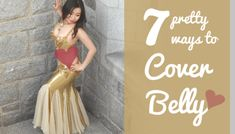 Want to hide your torso without compromising style? Here are 7 pretty ways to add coverage over your belly for belly dancers - from a little bit to full! Dance Dresses, Prom Dresses, Formal Dresses, How To Sew Sequins, Free Applique Patterns, Belly Dance Costumes, Belly Dancers, Clothing Hacks, Stockings